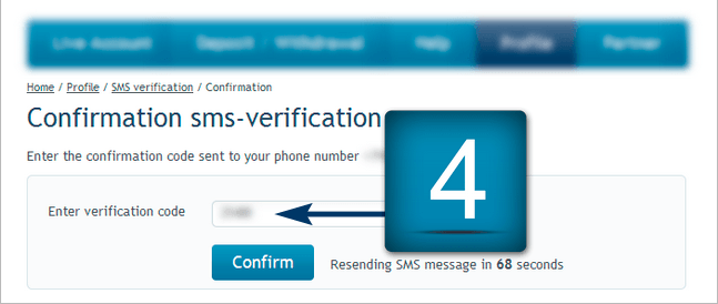 Sms verification - RoboMarkets